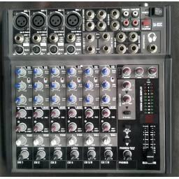 Consola Mezcladora De Sonido Ga-802c  GCM Pro