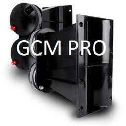 Horn / Corneta / Difusor Doble + Drivers 60W GCm Pro 21x12Cm GCM-X2KIT