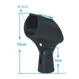 Porta Micrófono / Pipeta / Clamp de Goma para Inalambrico