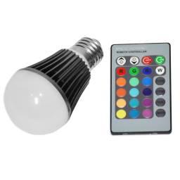 Lámpara Led Multicolor RGBW 220V + Control Remoto 7W