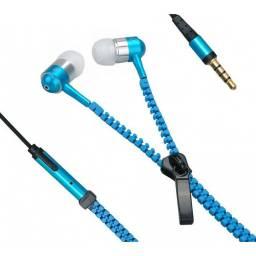 "Auriculares / Auricular Zipper para Celular MP3 MP4 Jack 3.5"" AURI-ZIPP"