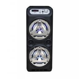 """Parlante Portátil LED Estéreo 2x5"""" G-8829 MP3, FM, USB, SD, BT, MIC y AUX"""