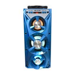 Parlante Portátil LED USB BT FM BATERIA 2x4 + 1x5 GS-221BT