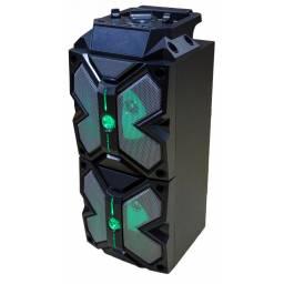 Parlante Portatil FM  USB  Bluetooth  Mic  LED G-3512