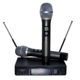 Microfono doble Frecuencia Variable doble de Mano GCM PRO GS-3500UHF