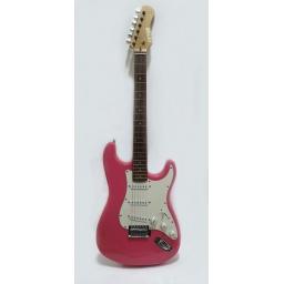 Guitarra electrica Stratocaster 4/4 Fever Alta calidad FEV-ELECT-PINK