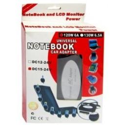 Cargador transformador universal para Notebook Laptop 130W de 15V a 24 V 4-5.5A LD13065