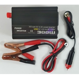 Elevador inversor transformador de voltaje para autos 12v a 220v 300w