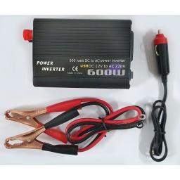 Elevador inversor transformador de voltaje para autos 12v a 220v 600w