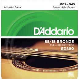 Juego de Cuerdas Encordado Daddario EZ890 Acustica Acero