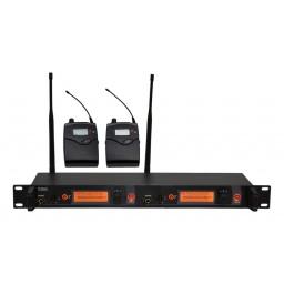 Sistema In Ear Inalambrico Doble UHF - IEM-4200