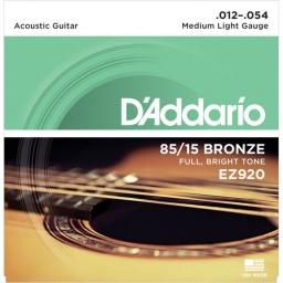 Juego de Cuerdas Encordado Daddario EZ920 Acustica Acero