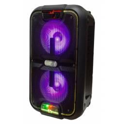 Caja Activa/ Bafle DOBLE G-2101 2x10 GCM DJ Con Batería Interna, Bluetooth, FM, USB y SD