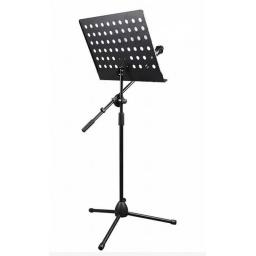 Atril Para Partituras REFORZADO Fever Altura Regulable con Porta Microfono 100% Metal