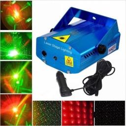 Luces Rayos Laser Multi puntos PARA AUTO 12V RG GcmPro + Control Remoto