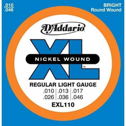 Juego de Cuerdas Encordado Daddario EXL110 Electrica Nickel