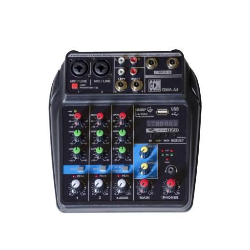 Mixer/Consola 3 canales + alimentacion por USB - GMA-A4 GCM DJ LINE