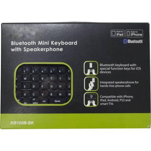 MIni Teclado Bluetooth con Altavoces y Micrófono