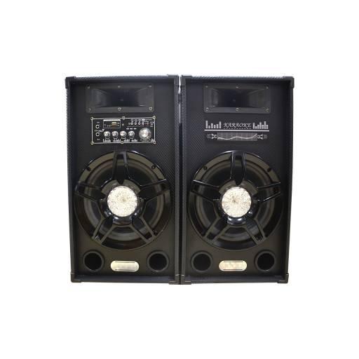 "Kit Bafles Multimedia 2x8"" USB SD FM Btooth + Ctrl Remoto G-8DC-DT"