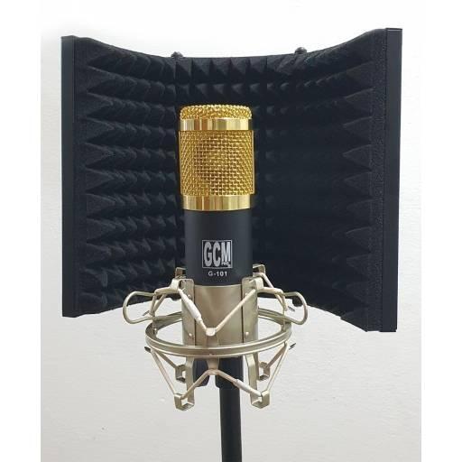 Cabina Soporte Insonorizado Con Pie y Araña Para Microfono Estudio GCM PRO