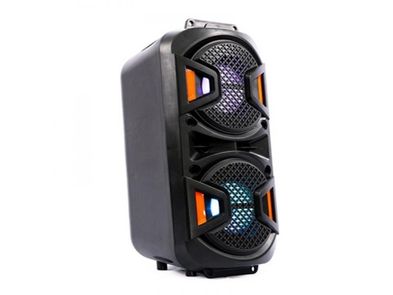 PARLANTE DOBLE PORTATIL FM  USB  BLUETOOTH  LED LIGE-A49